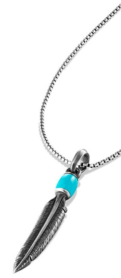 David Yurman Turquoise and Silver Feather