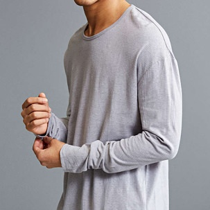 Ash Linen Long-Sleeve T-Shirt
