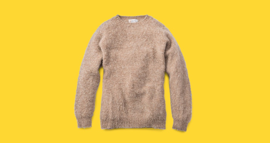 Shetland Woolen Co. Camel Shaggy Sweater