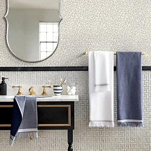 CB2 Selvedge Bath Towels