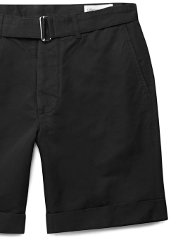 Officine Generale Cotton/Linen Cuffed Shorts