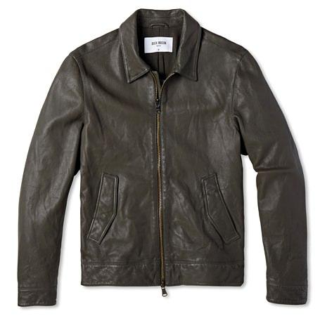 Buck Mason Washed Leather Flight Jacket