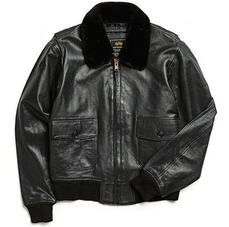 Alpha Industries G-1 Leather Bomber Jacket
