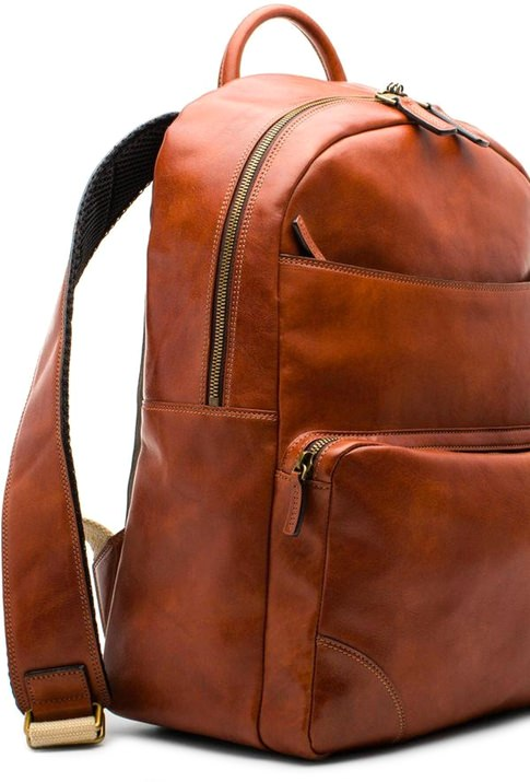 Bosca Dolce Leather Backpack
