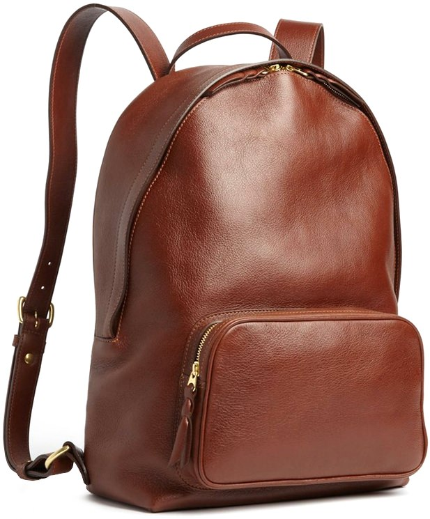 Lotuff Zipper Leather Backpack