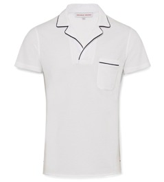 Orlebar Brown White Polo
