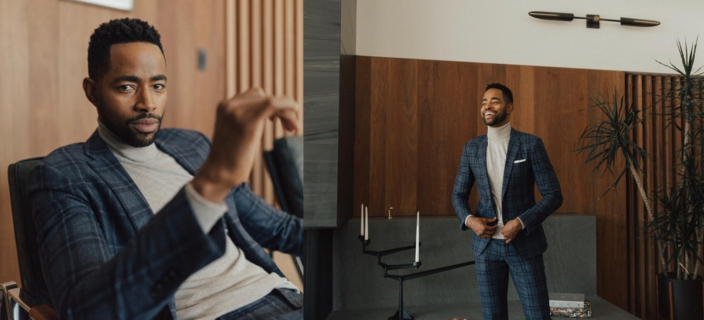 Jay Ellis, of HBO's Insecure, knows a turtleneck adds the perfect amount of seasonal swagger under a jacket.