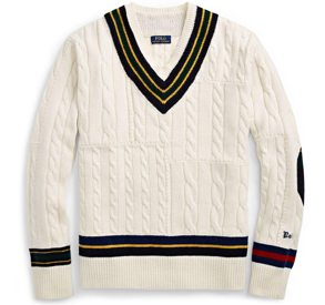 Polo Ralph Lauren Cable Cricket V-Neck Sweater
