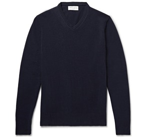 Officine Generale Cashmere and Merino V-Neck Sweater