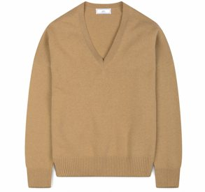Ami Oversized Wool and Cashmere V-Neck Sweater
