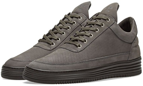 Filling Pieces Perforated Antra Nubuck Low-Tops