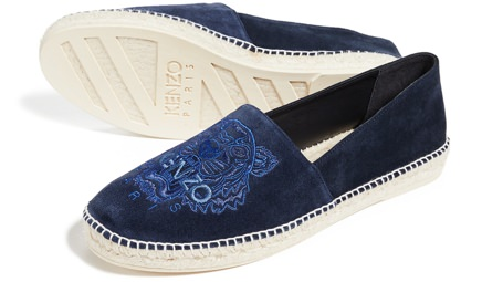 Kenzo Embroidered Suede Espadrilles