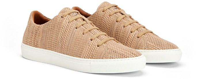 Aquatalia Andre Leather Low-Top Sneaker