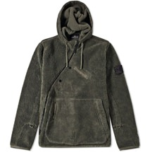 Stone Island Asymmetric Pile Fleece Hooded Jacket