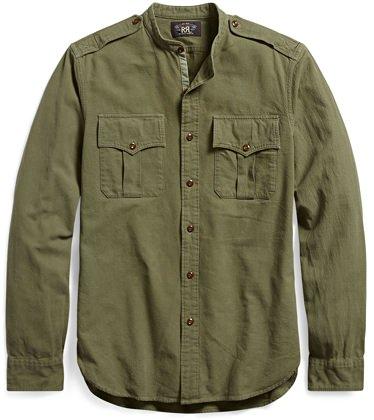 RRL Jacquard Military Shirt