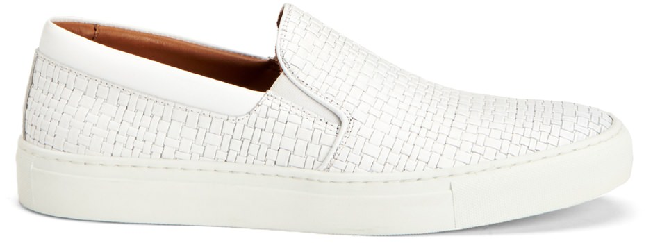 Aquatalia Anderson Embossed Leather Sneaker
