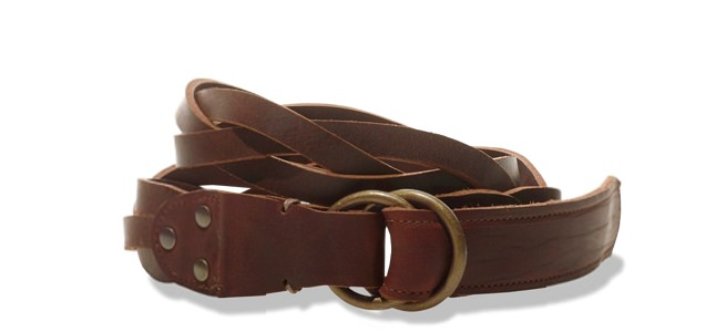 L.L. Bean Signature Braided Leather Belt