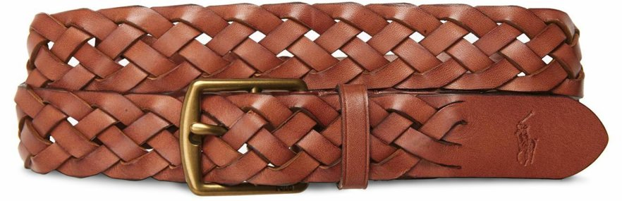 Polo Ralph Lauren Loose Braided Leather Belt