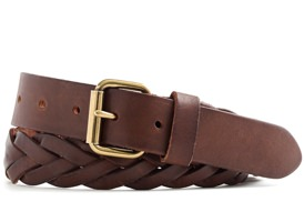 J.Crew Slim Braided Leather Belt