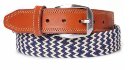 Martin Dingman Chevron Stretch Braid Belt