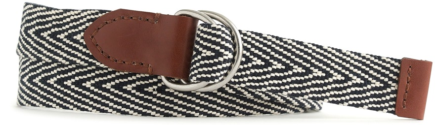 J.Crew Black and White Web Belt