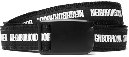 Neighborhood Printed Canvas Belt