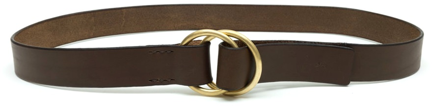 Kika NY Handcrafted Leather and Brass Belt