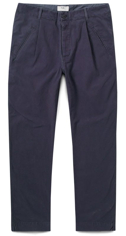 Folk Pleated Men's Pants