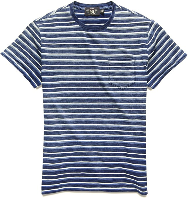 RRL Men's Striped T-Shirt