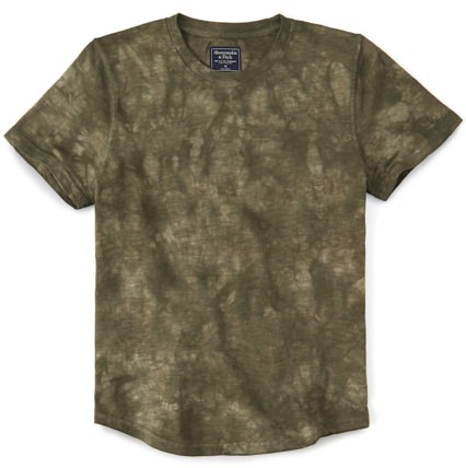 Abercrombie & Fitch Men's Tie-Dyed T-Shirt