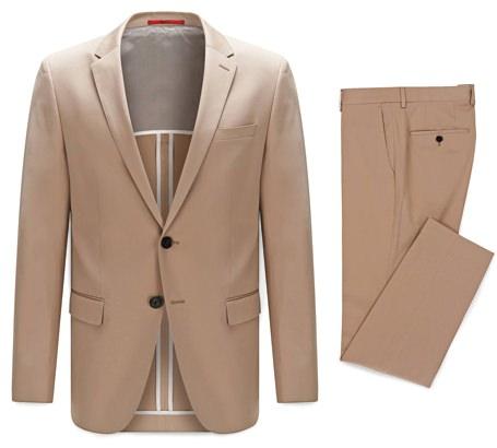 Hugo Boss Slim-Fit Stretch Cotton Suit