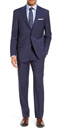 Hart Schaffner Marx New York Worsted Wool Suit