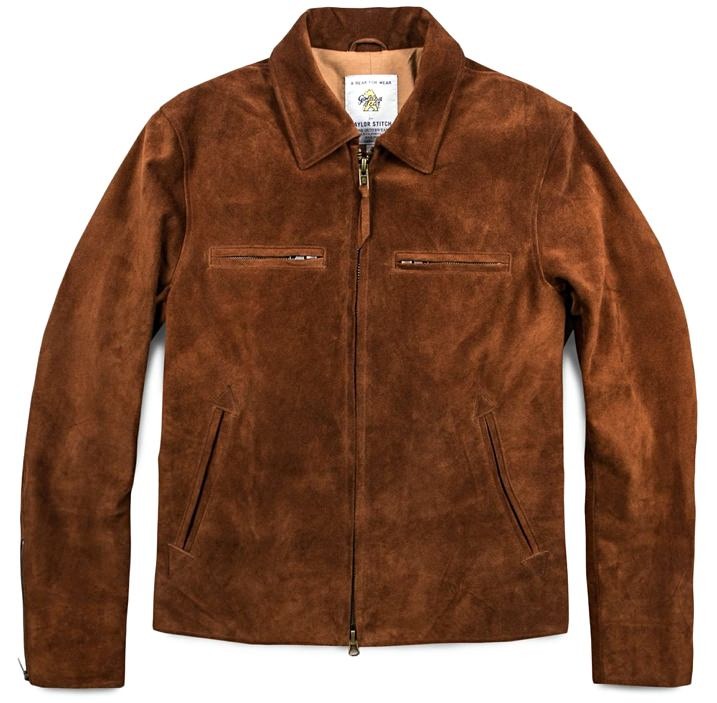 Taylor Stitch Waterproof Suede Moto Jacket
