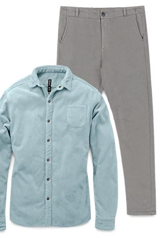 Adam Mar Montauk Overshirt and Tacoma Chinos
