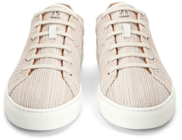 Aquatalia Andre Woven Leather Low-Tops