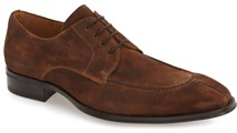 Mezlan Suede Split-Toe Derby