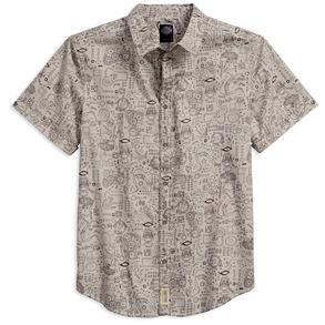 Harley Davidson Mechanical Print Shirt