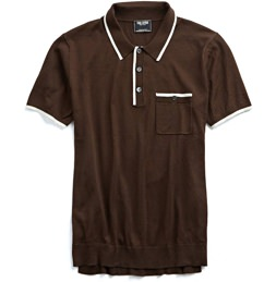 Todd Snyder Silk and Cotton Knit Polo