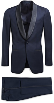 Suitsupply Navy Shawl Collar Tuxedo