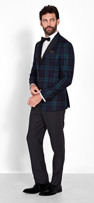 The Black Tux Black and Tartan Tuxedo Rental