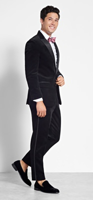 The Black Tux Black Corduroy Tuxedo Rental