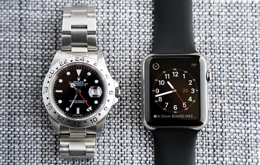 A Mechanical Watch vs. the Apple Watch