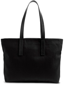 Everlane Twill and Leather Zip Tote