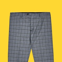 Zara Grey Checked Trousers