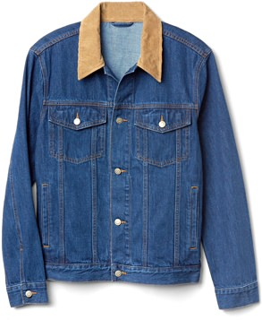 Gap + Ami Denim Jacket with Corduroy Collar