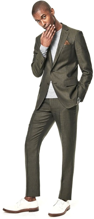 Todd Snyder olive drab Sutton linen jacket and tab-waist trousers