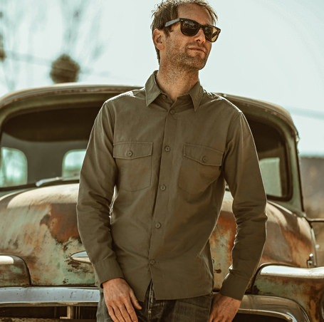 Taylor Stitch Cotton and Hemp Point Shirt