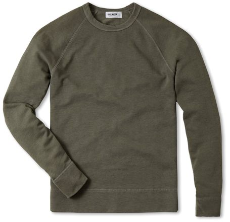 Buck Mason French Terry Raglan Sweatshirt
