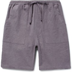 The Lost Explorer Slub Linen Drawstring Shorts