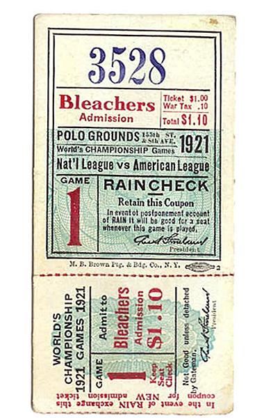 Vintage Baseball Ticket 83
